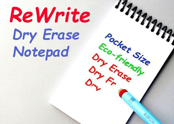 ReWrite Dry Erase Pocket Notepad