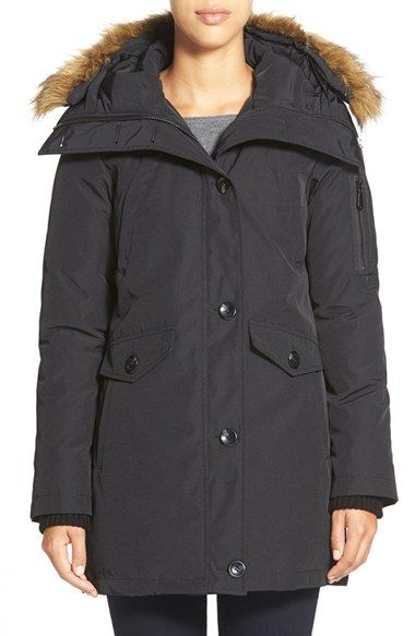 Vince Camuto FauxFur Trim Parka available at #Nordstrom