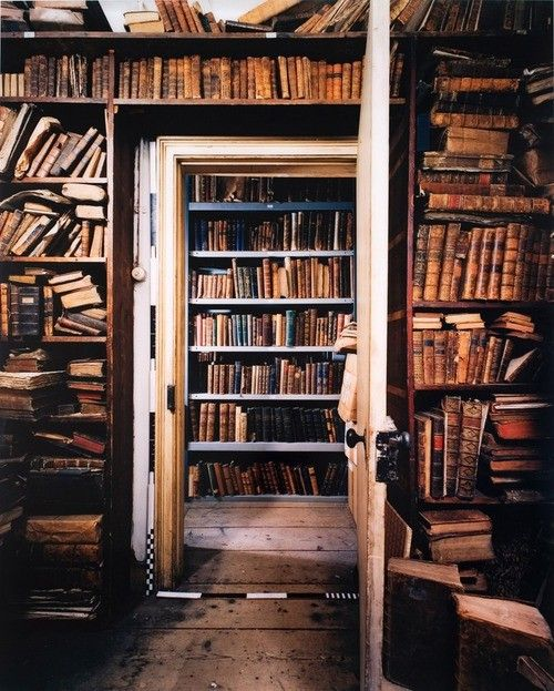 Slightly Harry Potterish...  What a marvelous place!  rooms and rooms of books: