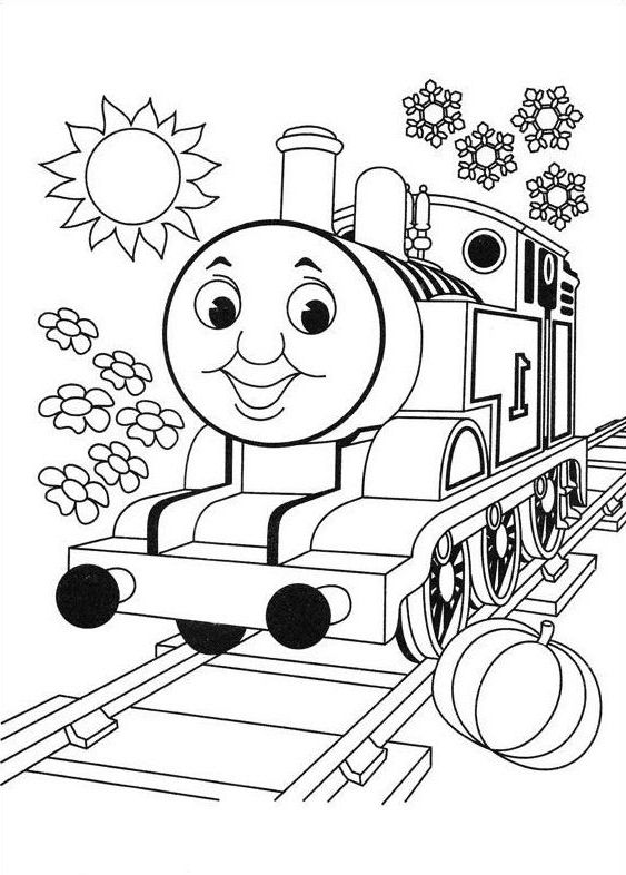 Thomas The Train Coloring | Coloring Page | Train coloring ...