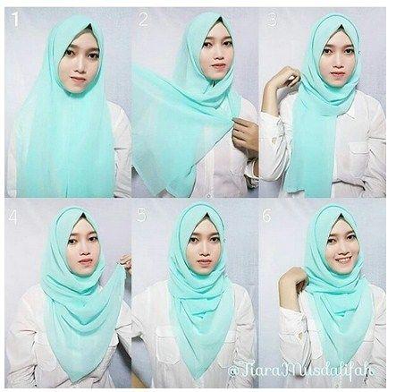 Tutorial Hijab Segi 4 Tanpa Ciput Ninja Hijab Kasual Muslim