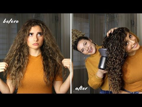 How I Style My Sister S Long Curly Hair For The Best Volume And Definition Youtube Curly Hair Styles Naturally Curly Hair Styles Curly Hair Photos