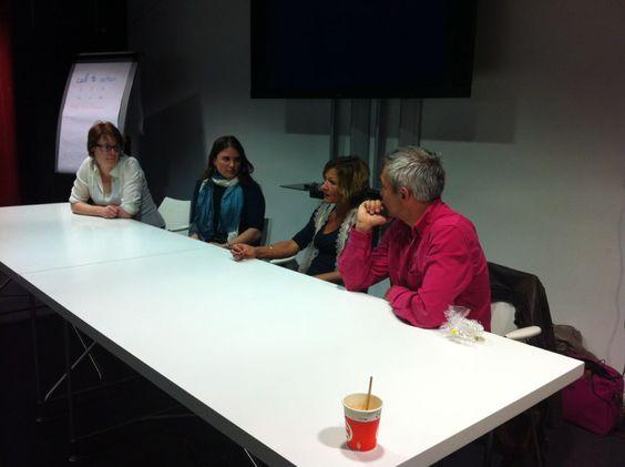 Marina Aubert, Eve Demange, Isabelle Canivet et Jean-Marc Hardy réfléchissent à l'avenir du métier de rédacteur web