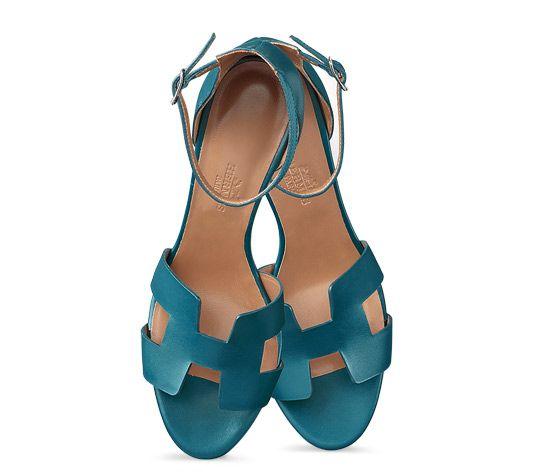 kelly bag hermes - Legend Hermes ladies' sandal in rough cut calfskin with palladium ...