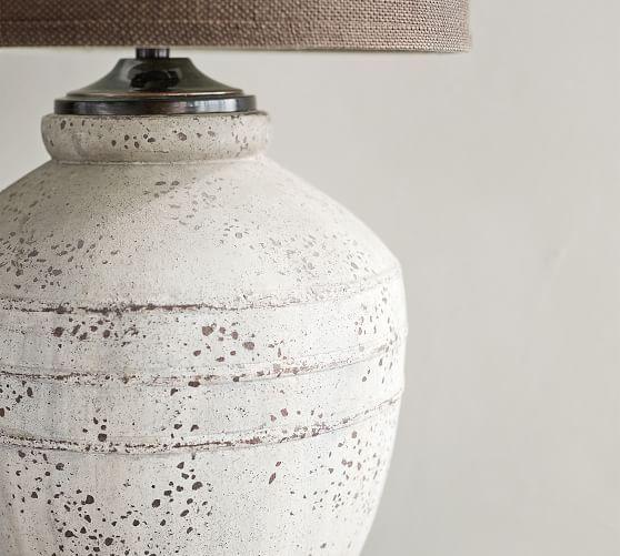 Maddox Ceramic 23 5 Table Lamp Base Rustic Gray Pottery Barn Table Lamp Base Lamp Bases Pottery Lamp
