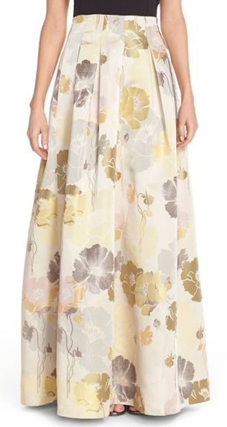 beautiful long floral maxi skirt