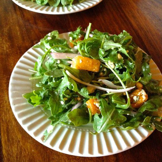 Butternut Squash, Feta and Pine Nut Salad