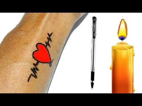 How To Make Permanent Tattoo At Home With Pen Candle Diy Tattoo With Pen Pen Tattoo Time Lapse Yo Diy Temporary Tattoos Diy Tattoo Diy Tattoo Permanent