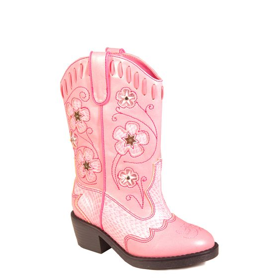 Roper Girls' Light Up Pink Cowgirl Boots (Infant/Toddler)