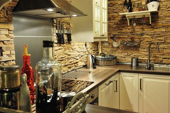 Verblendstein Rock Laugaricio in der Küche Gestalten mit Steinen