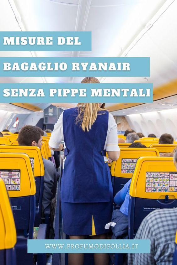 Misure bagaglio a mano Ryanair su Pinterest