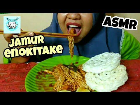 Jamur Enokitake Sambal Spicy Chicken Asmr Eating Pedas Youtube Jamur Resep