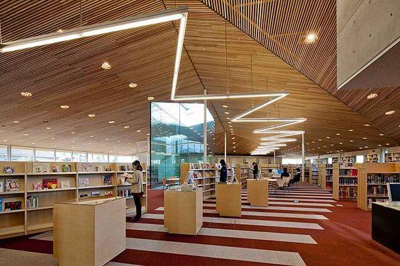 豊後高田市立図書館 | 三上建築事務所 | 図書館 | Pinterest | Ceiling and Spaces
