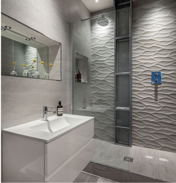 Natural showers and inspiration on pinterest for Porcelanosa salle de bain