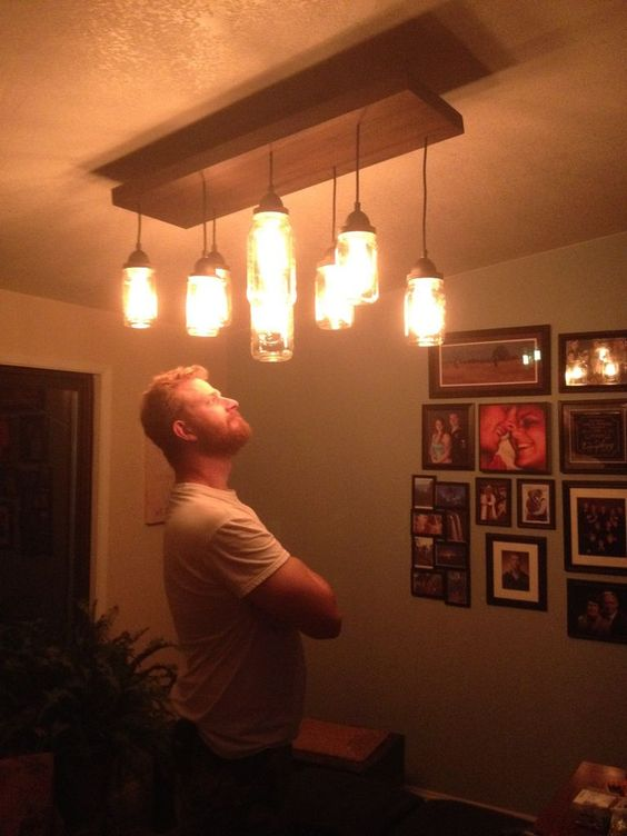 mason jar chandelier diy vintage diy vintage mason jar chandelier