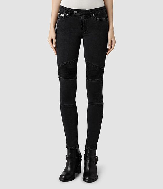 Womens Biker/Washed Black (Washed Black ...