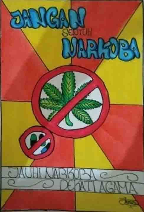 Jangan Sentuh Narkoba Jauhi Narkoba Dekati Agama Agama Gambar Poster
