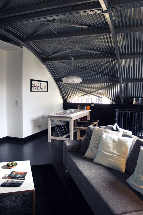 Converted Aircraft Hangar Home Of Scottish Graphic Designer Glenn