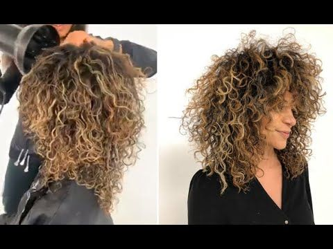 Pin On Long Round Layer On Curly Hair