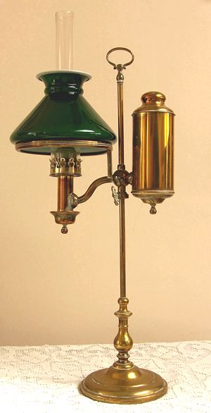 Antique Victorian Student Lamp