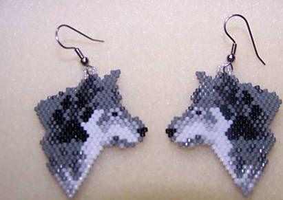 Beaded Wolf Earring Pattern