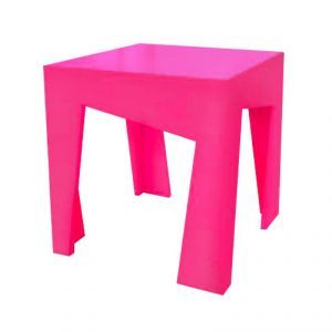 Love Ana Crooked Table in Hot Pink