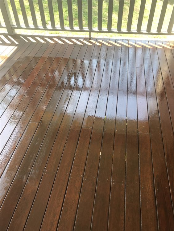Tired old deck looking new again