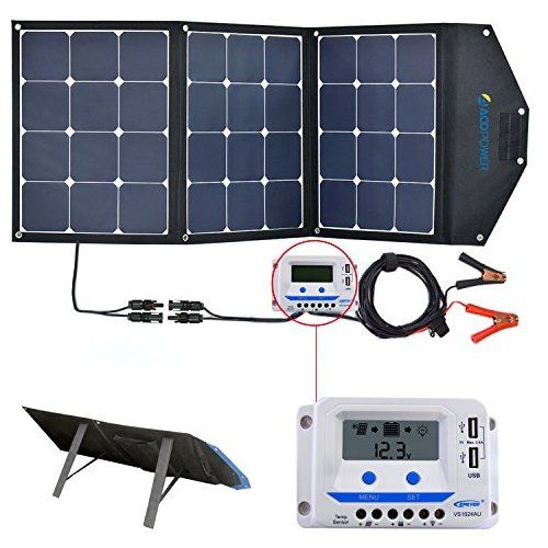 Acopower 120w Portable Solar Panel 12v Foldable Solar Charger With 10a Lcd Charge Controller In Suitcase Portable Solar Panels Solar Kit Solar Panels For Home