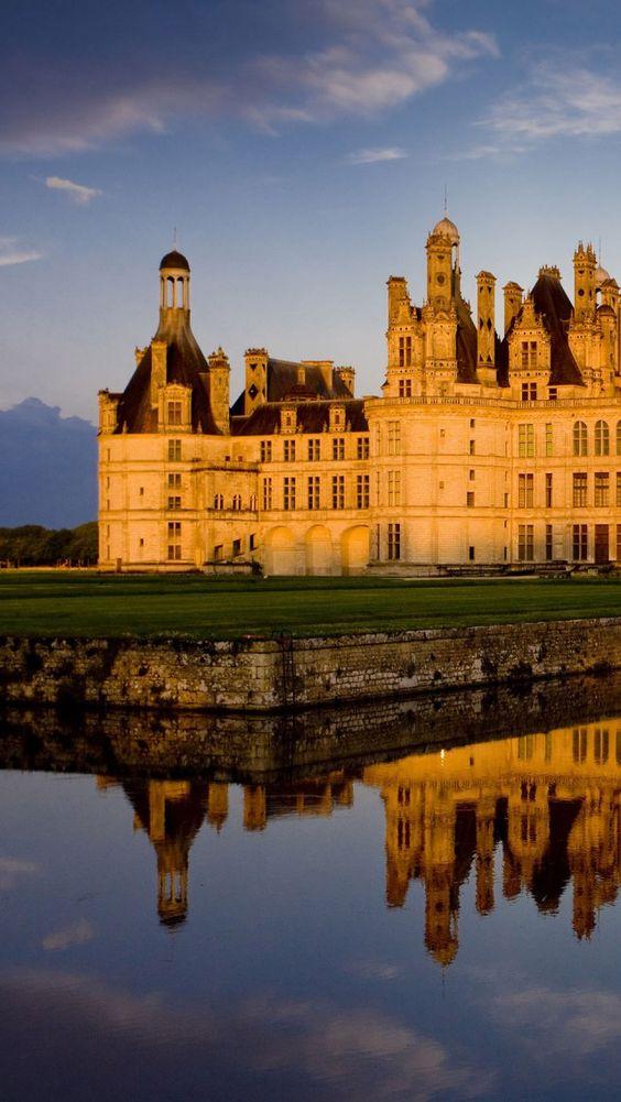 The royal Chambord Castle ~ French Renaissance architecture, Loire Valley, France