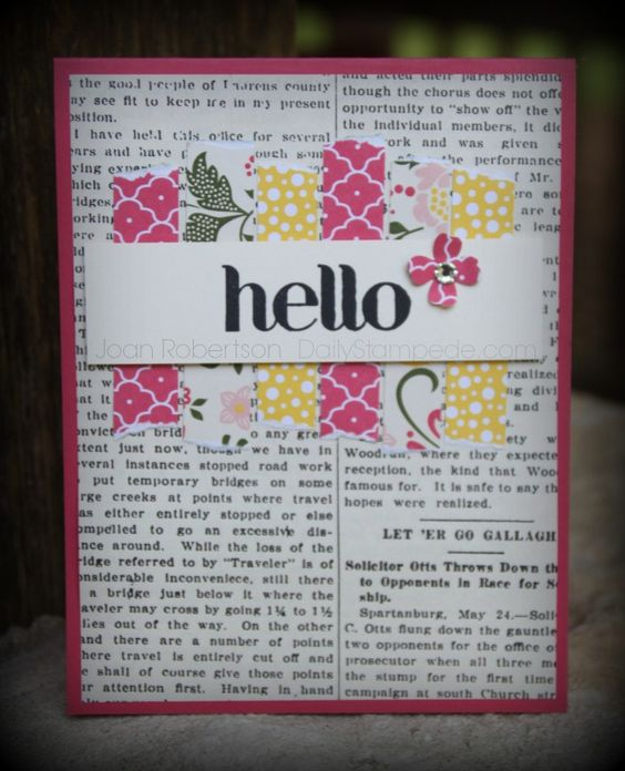 All Abloom Card using Stampin' Up! All Abloom DSP stack