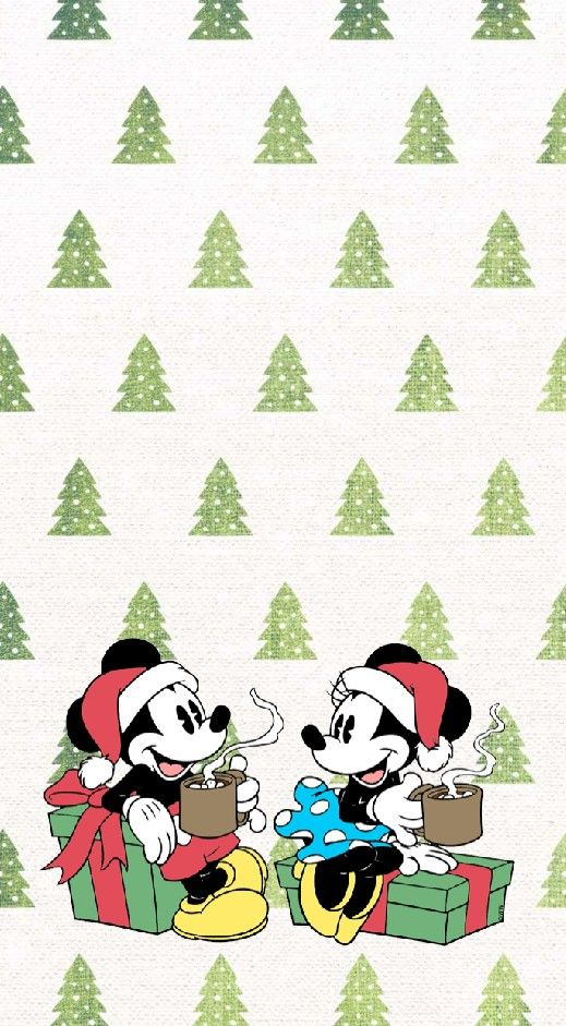 Christmas Mikey And Minnie Lock Screen Wallpaper Screen