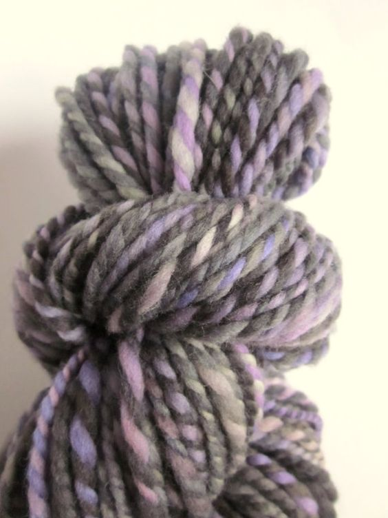 Handspun chunky merino wool / yarn by thefibretree on Etsy, £8.99