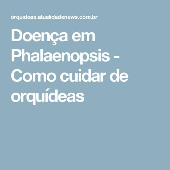 Doença em Phalaenopsis - Como cuidar de orquídeas                                                                                                                                                     Mais