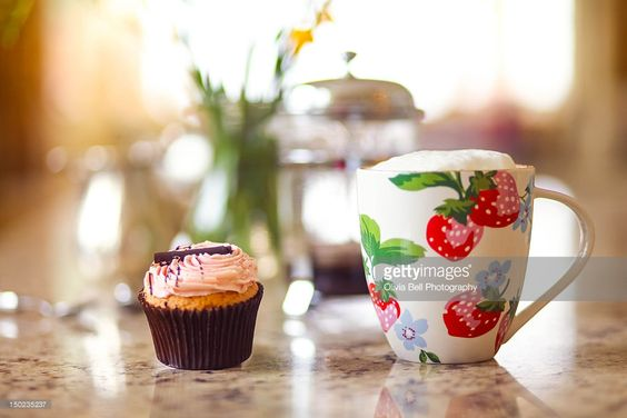 Stock Photo : Coffee and cupcake