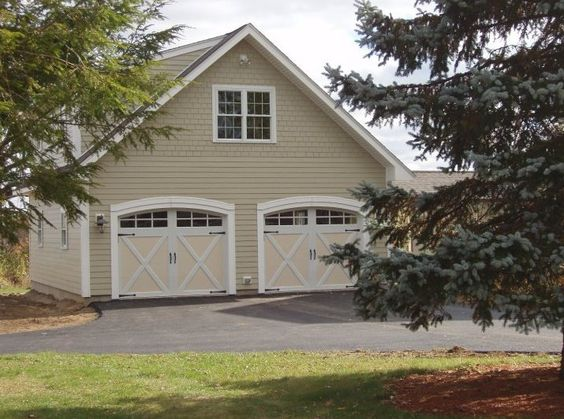 Clopay coachman collection steel carriage house garage for Detached carriage house