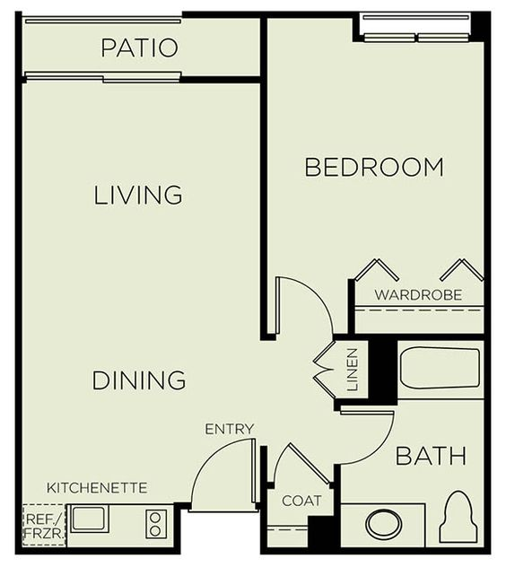 Assisted Living Floor Plans 450 Sq Ft Google Search