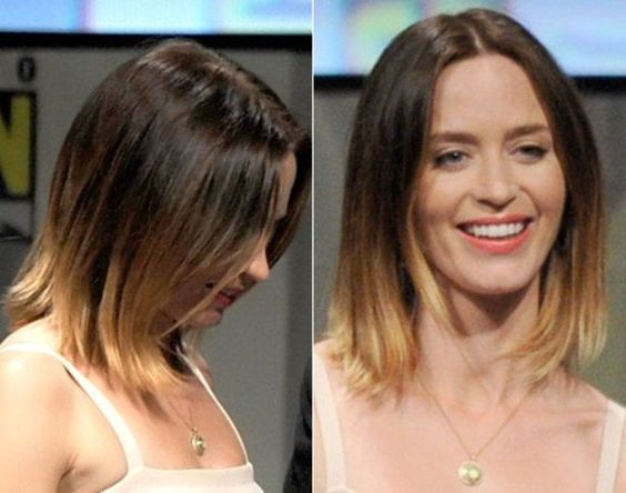 Swell Emily Blunt Blunt Hair And Ombre On Pinterest Short Hairstyles Gunalazisus