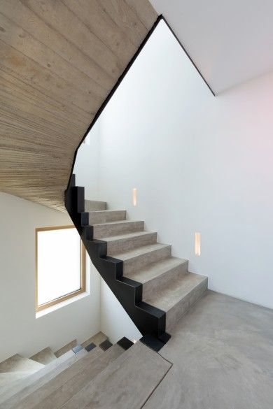 treppe beton mit schwarzstahl treppe pinterest. Black Bedroom Furniture Sets. Home Design Ideas