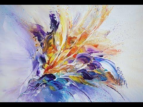 Acrylic Painting Abstract Acrylmalerei V192 Exotic4 Youtube