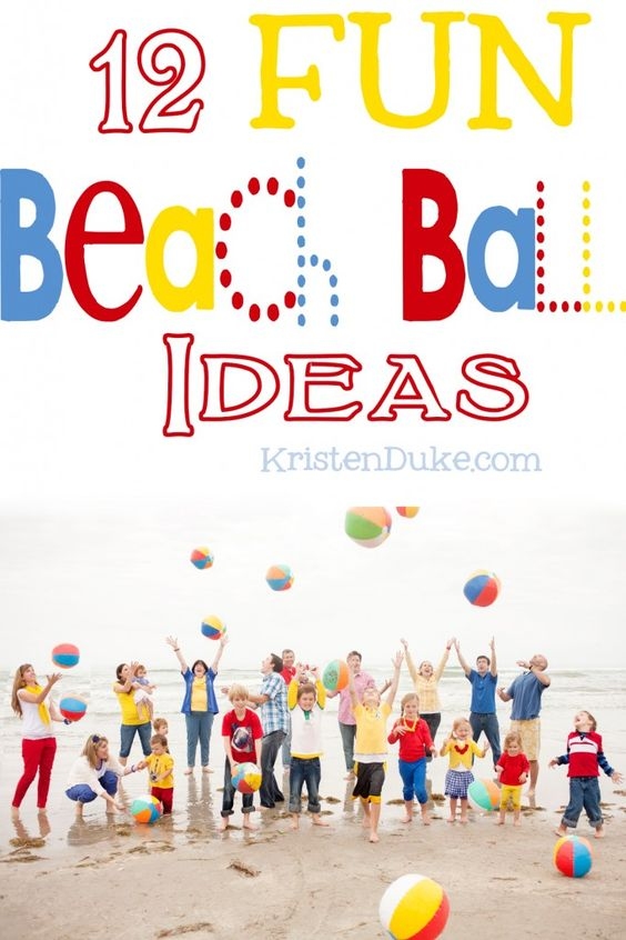 12 fun beach ball ideas including recipes, photography, and crafts - perfect for summer parties | KristenDuke.com