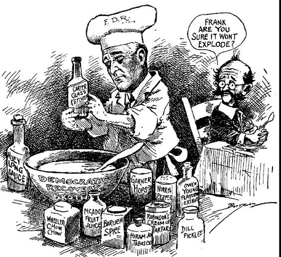Analyze the responses of franklin roosevelt's administration to the problems of the great depression?