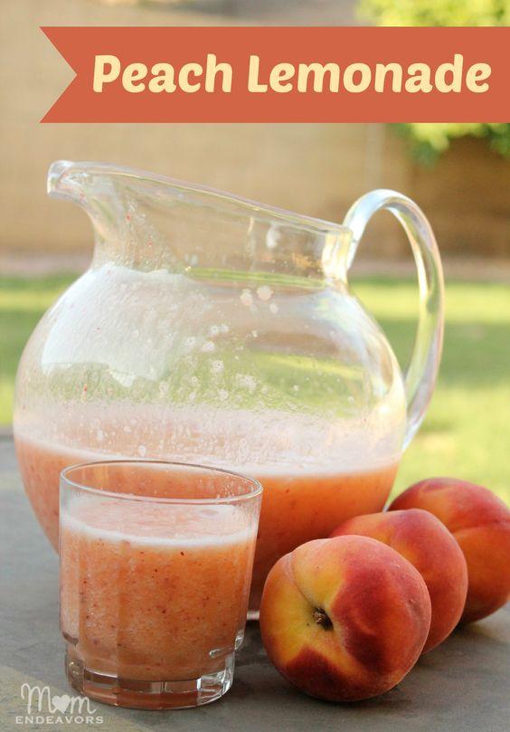 Peach lemonade, Lemonade and Peaches on Pinterest
