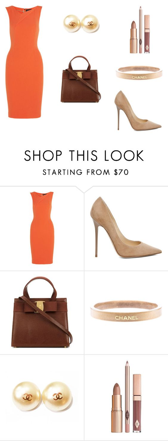 """""""Office style"""" by masha121415 ❤ liked on Polyvore featuring Roland Mouret, Jimmy Choo, Chanel, women's clothing, women's fashion, women, female, woman, misses and juniors"""