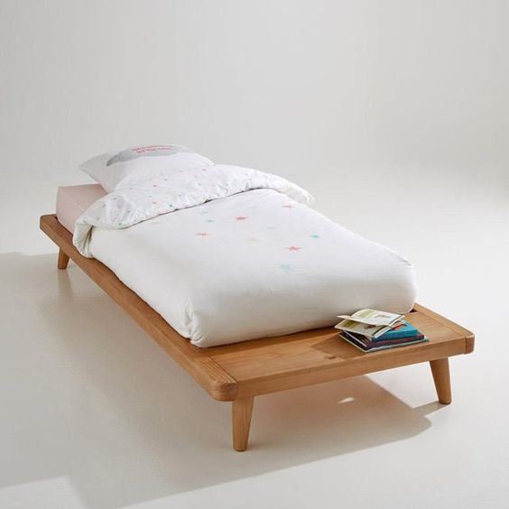 Lit plateforme sommier tablette jimi mattress sons for Lit escamotable la redoute
