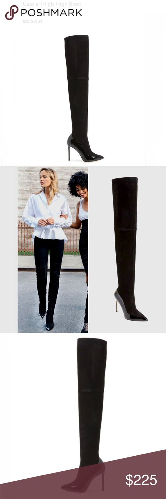 Pour La Victoire Cassie Light Beige Suede Over-The-Knee Fitted Thigh High Boot