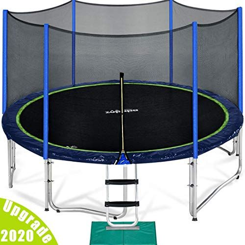 New Zupapa 15 14 12 Ft Tuv Approved Trampoline Enclosure Net Poles