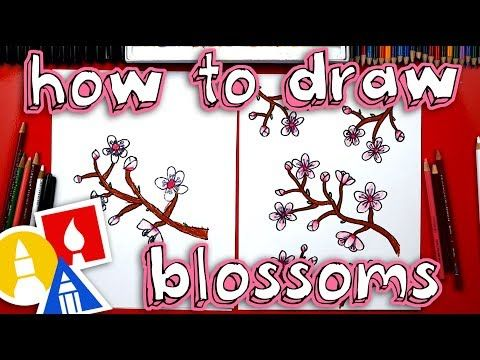 How To Draw Cherry Blossoms New Spring Ebook Art For Kids Hub Cherry Blossom Art Cherry Blossom Painting Cherry Blossom Drawing