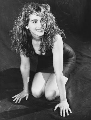 I'm definitely Julia Roberts natural hair twin... desperately looking for a time she may have had a pixie cut and what it looked like. :):