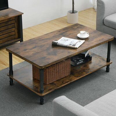 Williston Forge Ortegon Industrial Coffee Table Table Top Color