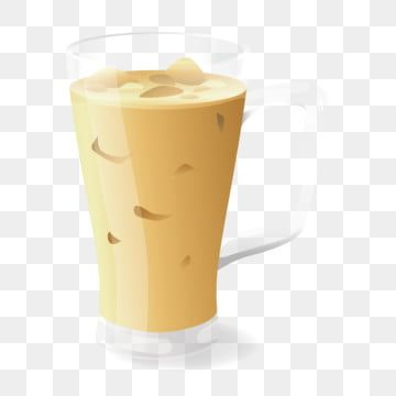 Lifelike Iced Iced Drink Milk Coffee Milk Coffee Iced Coffee Png And Vector With Transparent Background For Free Download Drink Milk Coffee Milk Ice Cream Menu